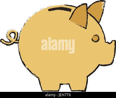 moneybox piggy safe deposit banking - Stock Photo