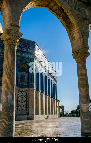 Temple Mount, Dome of the Rock, Old City of Jerusalem; Jerusalem, Israel - Stock Photo