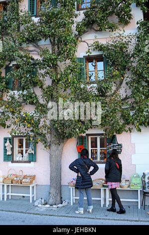 Tourists in Hallstatt village, Austria