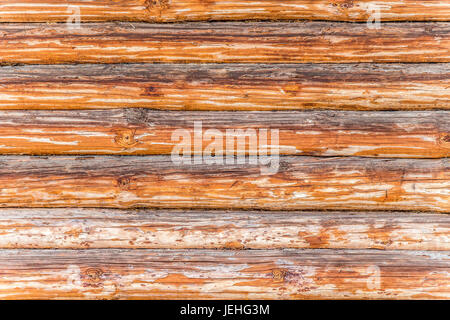 Part of the old log building construction as a background - Stock Photo
