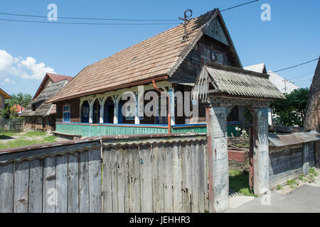 Old wooden house in the carpathian forest stock photo royalty free image 86245211 alamy - Houses maramures wood ...