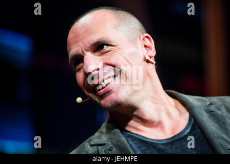 Yanis Varoufakis , Greek economist, academic and politician, who served as the Greek Minister of Finance from January - Stock Photo