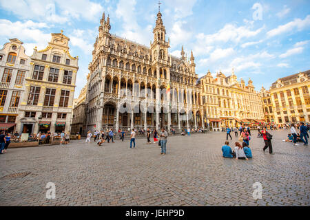 Central square in Brussels city - Stock Photo