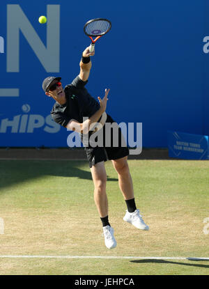 Great Britain's Jamie Murray during the doubles semi final of the 2017 AEGON Championships at The Queen's Club, - Stock Photo