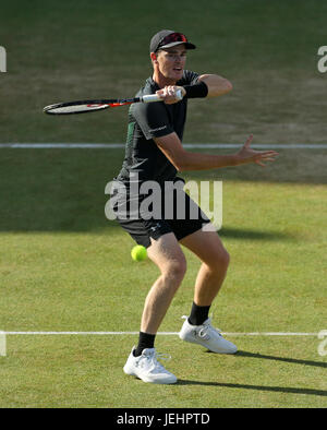 Great Britain's Jamie Murray during the doubles final of the 2017 AEGON Championships at The Queen's Club, London. - Stock Photo