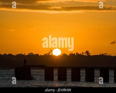 African Sun Set - Stock Photo