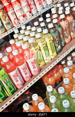 DALIAN-CHINA-OCT. 12. Displayed soft drinks. Industry report shows the total sales of soft drinks industry in China - Stock Photo