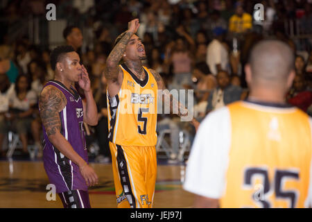 Los Angeles,USA. 24th June,2017. Chris Brown Celebrity Basketball Game,presented by Sprite State Farm,during 2017 - Stock Photo