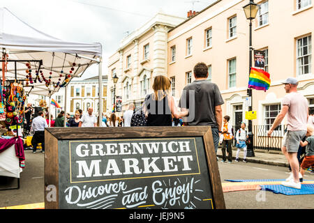 London, UK. 25th Jun, 2017. Greenwich and Docklands International Festival. Greenwich market Credit: Elena Chaykina/Alamy - Stock Photo