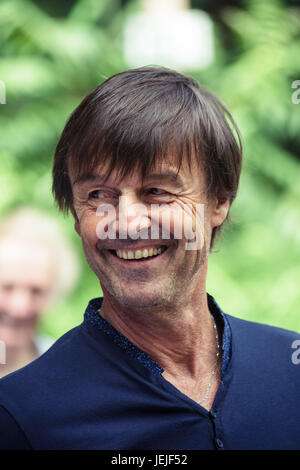 Paul Barlet / Le Pictorium -  Visit of Nicolas Hulot and Francoise Nyssen to the GoodPlanet Foundation -  25/06/2017 - Stock Photo