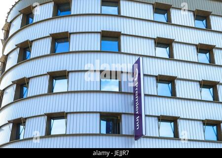 London, UK. 26th June 2017. Hotel chain Premier Inn admits concern over cladding used on it's buildings and is reviewing - Stock Photo