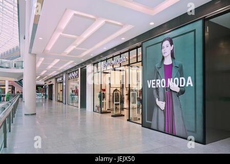 BEIJING-AUG. 21, 2015. VERO MODO fashion outlet exterior. Danish Bestseller Group is Europe's leading international - Stock Photo