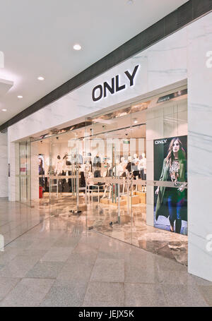 BEIJING-AUG. 21, 2015. Only fashion clothing outlet. Danish Bestseller Group is Europe's leading international fashion - Stock Photo