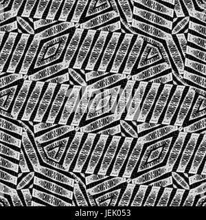 Modern Ethnic Geometric Intricate Pattern - Stock Photo