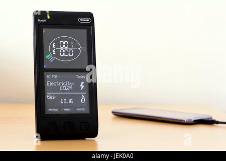 Npower smart meter home display - Stock Photo