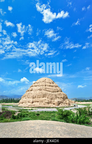 The West Xia Imperial Tombs in Yinchuan, Ningxia Province, China - Stock Photo