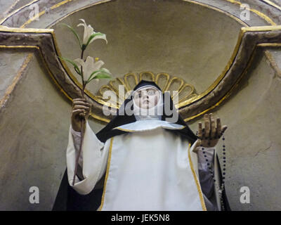 Low Angle View Nun Statue - Stock Photo