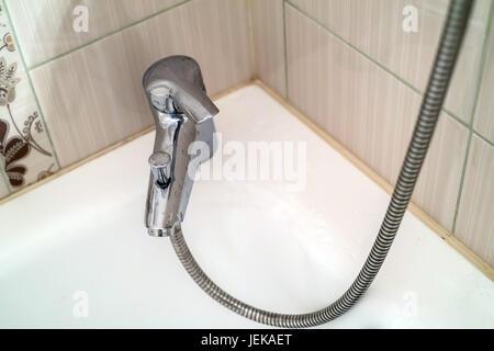 Modern luxury shower booth - Stock Photo