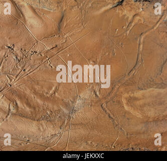 Hypothetical Aerial Martian Soil Surface Background - Stock Photo