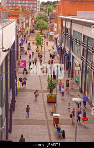 Pedestrianised shopping area of Altrincham, Greater Manchester, England. UK. - Stock Photo
