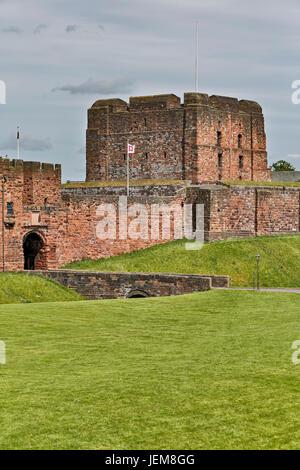Carlisle Castle, Carlisle, Cumbria, England, United Kingdom - Stock Photo