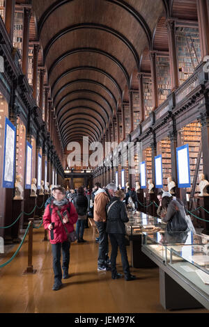 Interior view of Trinity College Library, Dublin, Ireland. - Stock Photo