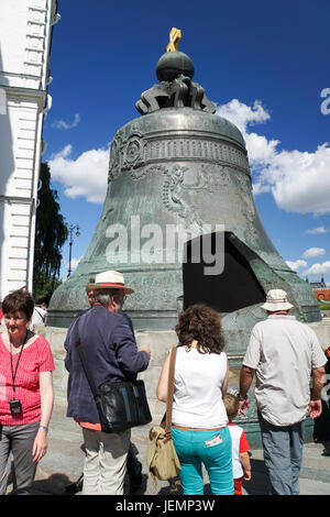 The Great Tsar's Bell, Kremlin, Moscow, Russia - Stock Photo
