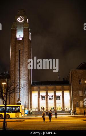 Illuminated building at night - Stock Photo
