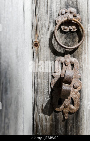 Close-up of old handle - Stock Photo