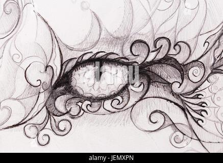 how to draw mystic eye