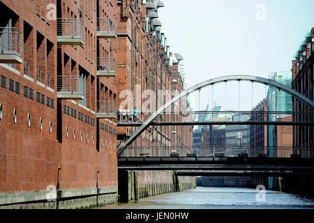Hamburg, Germany. 22nd June, 2017. Ctyview of Hamburgf at the harbour, Germany, city of Hamburg, 22. June 2017. - Stock Photo