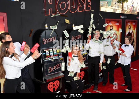 Los Angeles, USA. 26th June, 2017. LOS ANGELES, CA. June 26, 2017: Casino Atmosphere on the Red Carpet at the Los - Stock Photo