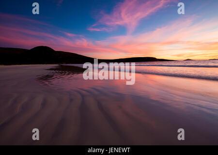 Beach sunset, Cape Le Grand National Park, Esperance, Western Australia, Australia - Stock Photo