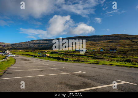 View of the Burren from the car park at Fanore beach, Co. Clare. - Stock Photo
