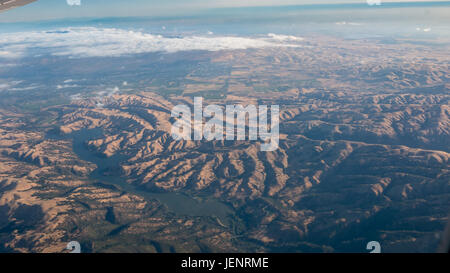 Aerial View of Mountain System in California - Stock Photo