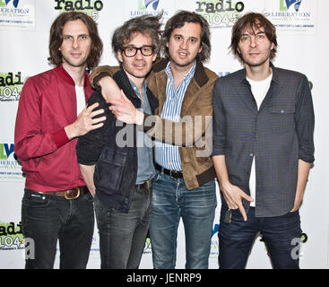Bala Cynwyd, PA, USA. 2nd June, 2017. French Alternative Rock Band Phoenix Visit Radio 104.5's Performance Theatre. - Stock Photo