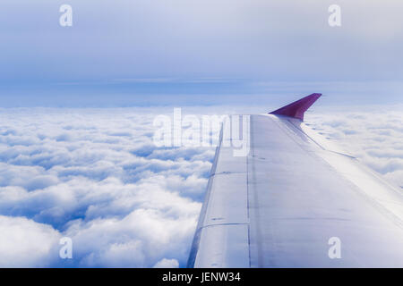 Clouds and Sky View from Window Plane - Stock Photo
