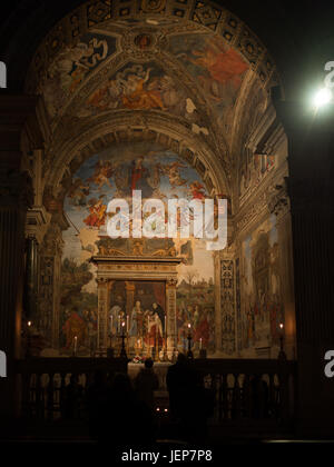 Altar of Basilica di Santa Maria Sopra Minerva - Stock Photo