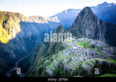 Machu Picchu at Sunrise - Stock Photo
