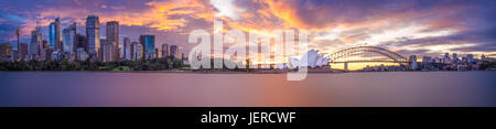 A panorama of Sydney at twilight - Stock Photo