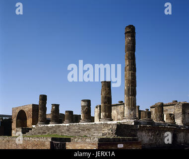 Pompeii. Ancient roman city. The Temple of Jupiter. Campania. Italy. - Stock Photo