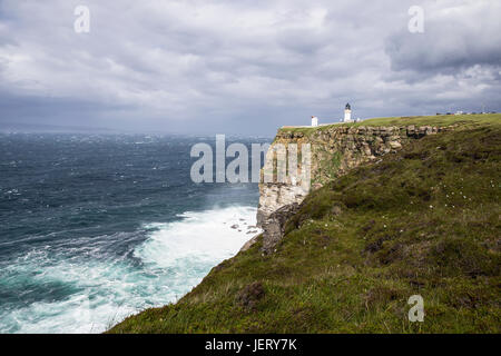 Dunnet head most northerly point in Britain - Stock Photo