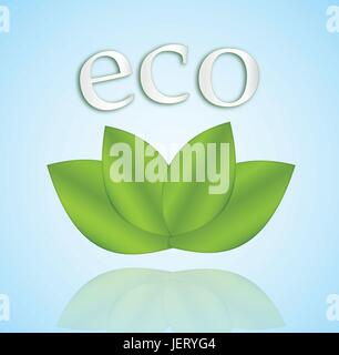 eco, environment, enviroment, green, biological, illustration, ecology, icon, - Stock Photo