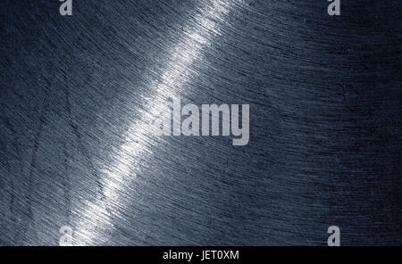 close up shot of grey shiny metal surface. - Stock Photo