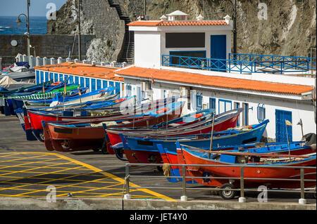 Retro fishing boats at Tenerife - Stock Photo