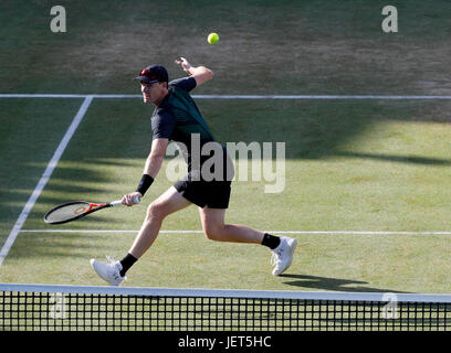Britain's Jamie Murray during the doubles final at Queen's Club at the Aegon Championships in London 2017 - Stock Photo
