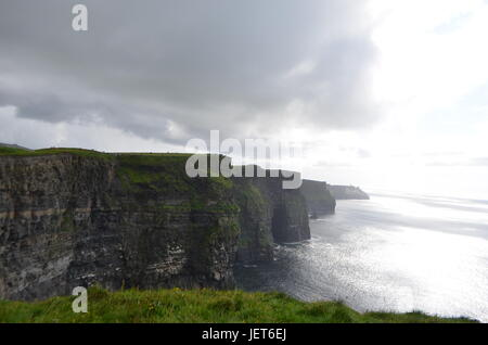 South View Looking over The Cliffs of Moher in County Clare, Ireland - Stock Photo
