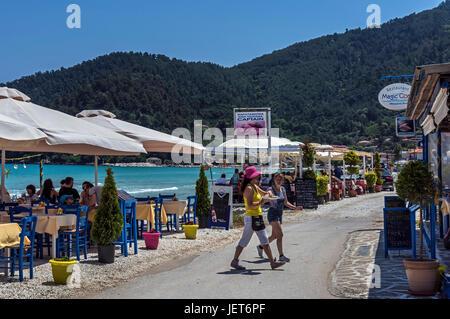 Golden Beach, Thassos. - Stock Photo