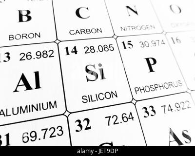 Silicon Chemical Element Periodic Table Science Symbol Stock Photo