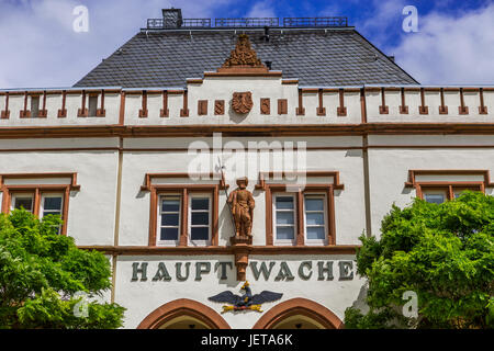 Hauptwache (old main guard, today restaurant) in picturesque old town of Wetzlar, Hesse, Germany - Stock Photo